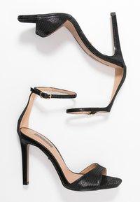 Topshop - SILVY SKINNY PART - Sandály na vysokém podpatku - black - 3