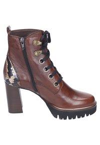Maripé - Lace-up ankle boots - cognac/rovere - 5