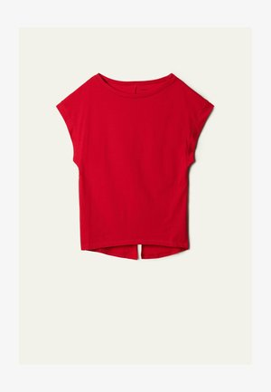 Print T-shirt - poison red