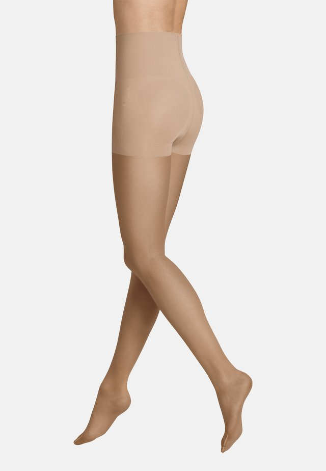 TIGHTS INVISIBLE CONTROL TOP - Tights - toffee