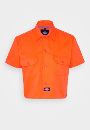 GROVE - Button-down blouse - bright orange