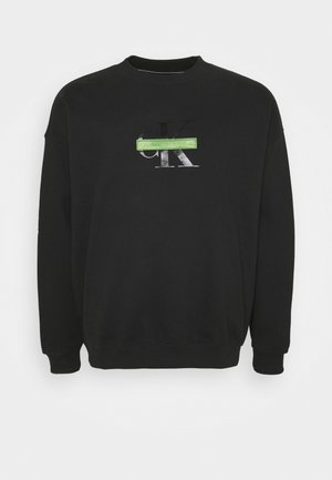 RELAXED FIT CREW - Felpa - black