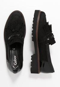 Gabor - Slip-ins - schwarz/cognac - 3