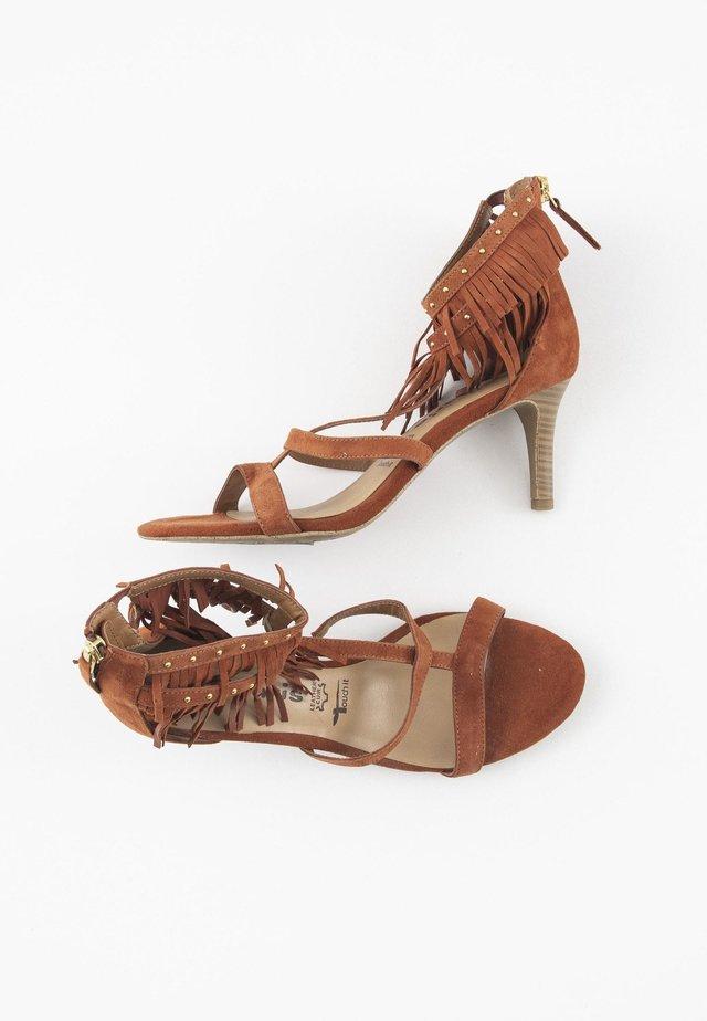 Sandalen met enkelbandjes - orange