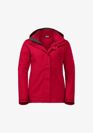 Hardshell jacket - clear red