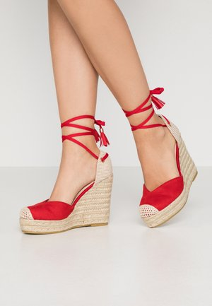 WIDE FIT DORIAN - High heeled sandals - red