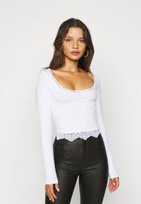 Even&Odd Petite - 2 PACK - Bluzka z długim rękawem - black/white - 2
