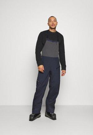 SNOWDRIFTER BIBS - Pantaloni da neve - smolder blue
