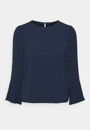 VMSAGA BELL SLEEVE - Long sleeved top - navy blazer