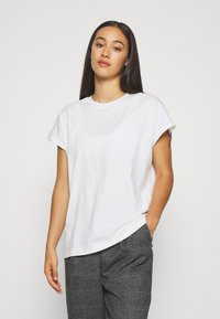 Weekday - BREE - Basic T-shirt - white - 0