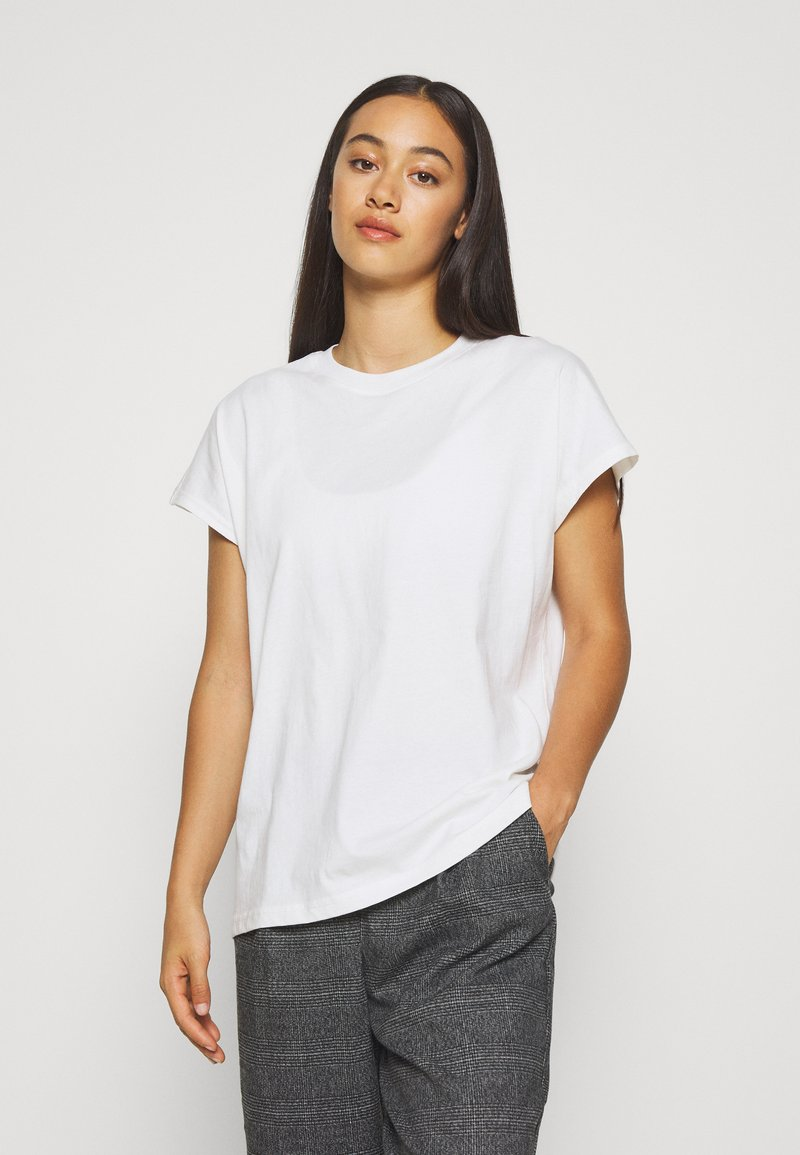 Weekday - BREE - Basic T-shirt - white