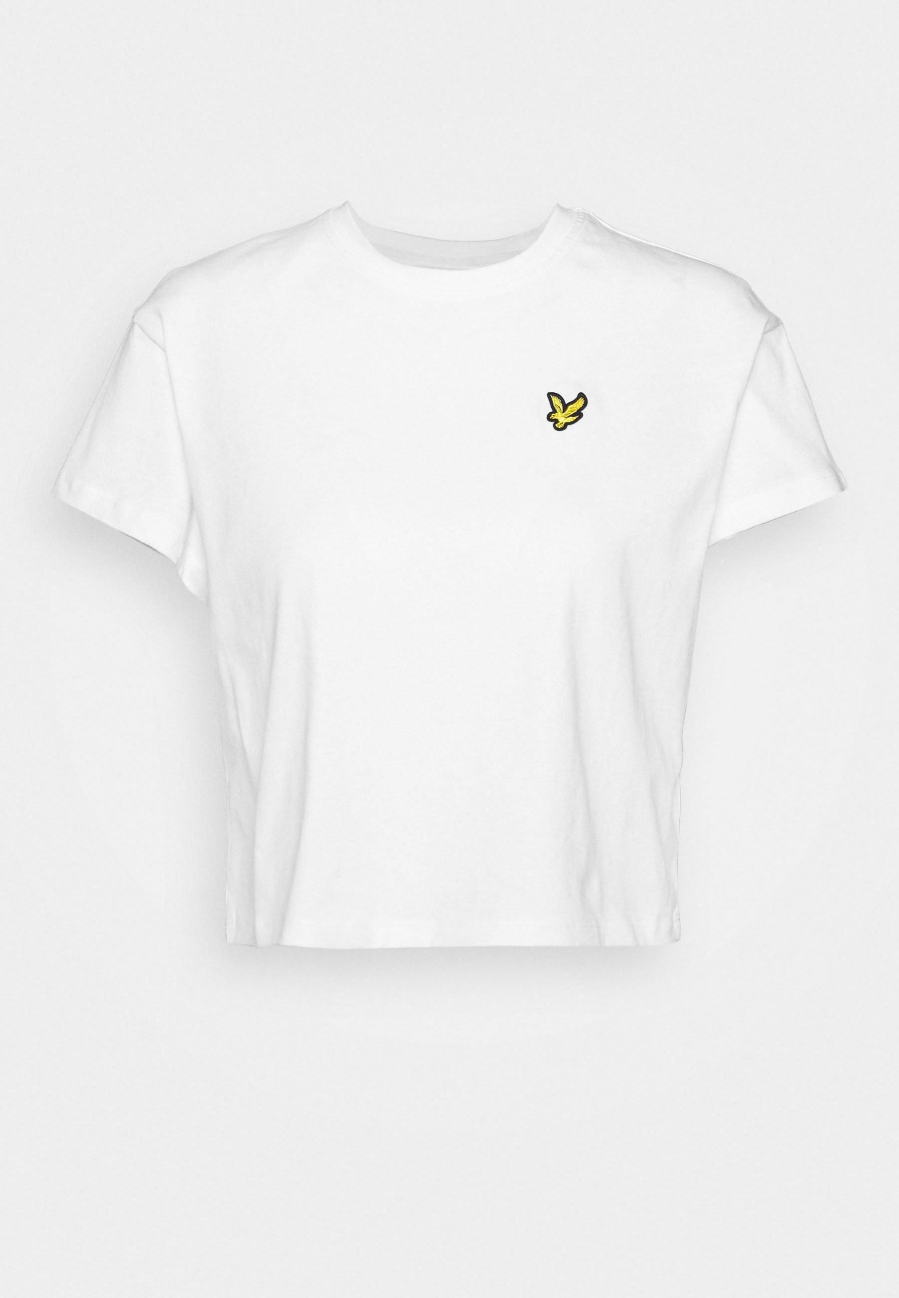 Lyle & Scott Cropped - T-shirts White/hvit