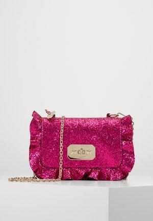 GLITTER ROCK RUFFLE XBODY - Across body bag - glossy pink