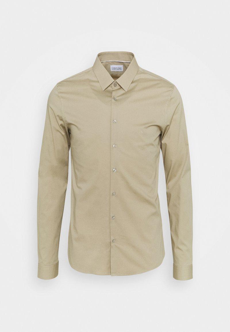 Calvin Klein Tailored - LOGO STRETCH EXTRA SLIM - Formal shirt - beige