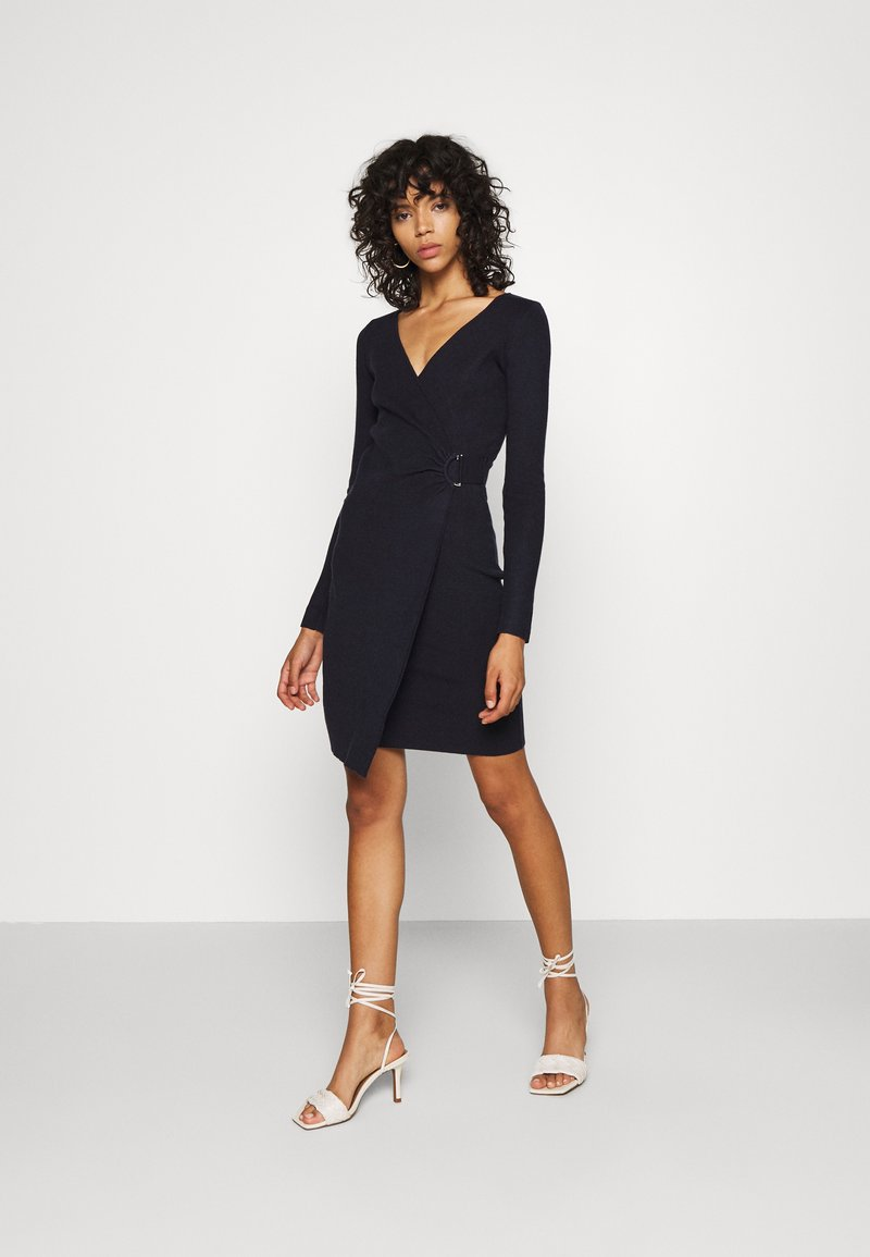 4th & Reckless - OXFORD DRESS - Etuikleid - navy