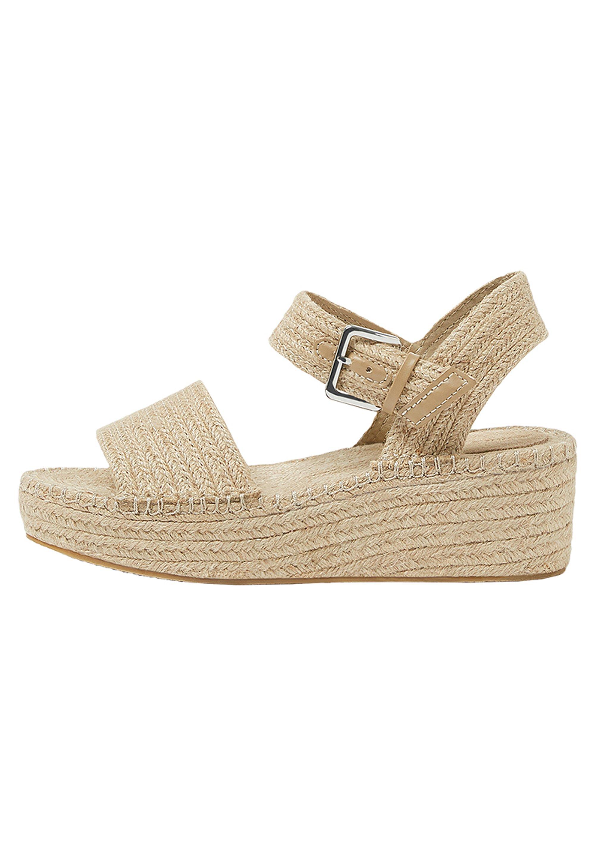 Sandaletter med kilklack sand
