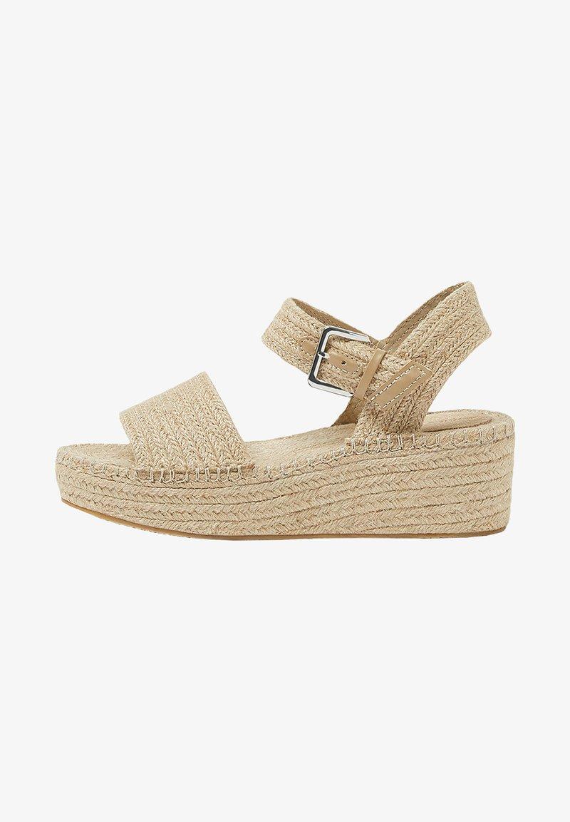 PULL&BEAR - Sandály na klínu - sand