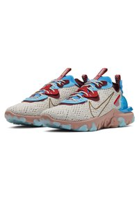 Nike Sportswear - REACT VISION  - Trainers - light bone photo blue team red terra blush - 2
