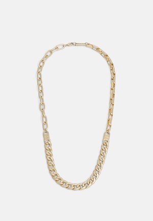 ALL MIXED UP DIFFERENT CHAINS NECKLACE - Kaulakoru - gold-coloured