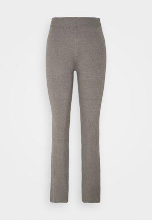WIDE LEG TROUSER - Trousers - mid grey