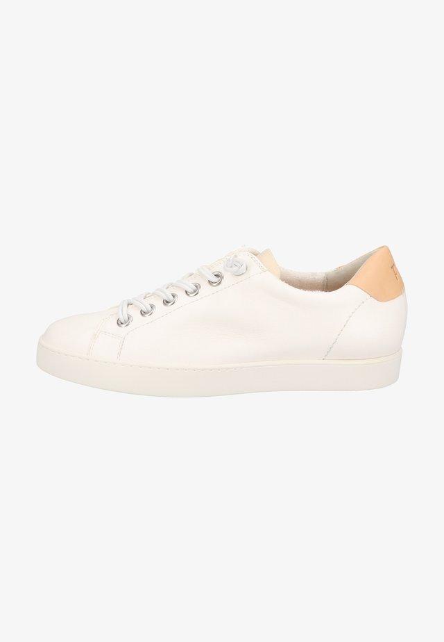 Sneakers laag - weiß/hellbraun 038