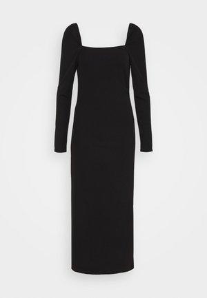 YASZALIA MIDI DRESS - Vestito di maglina - black