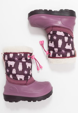 SNOWFALL BEAR - Winter boots - violet/pink