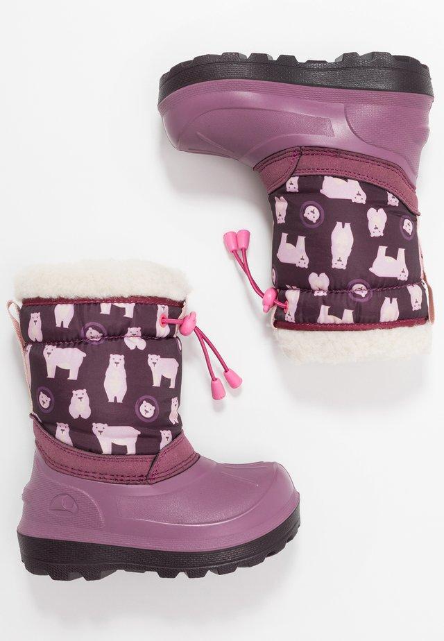 SNOWFALL BEAR - Bottes de neige - violet/pink