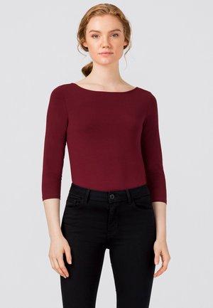 Long sleeved top - rubinrot