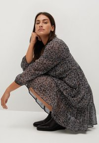 Violeta by Mango - COLOM - Day dress - dunkelgrau meliert - 3