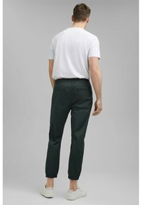 Esprit Collection - FASHION - Tracksuit bottoms - dark teal green - 2