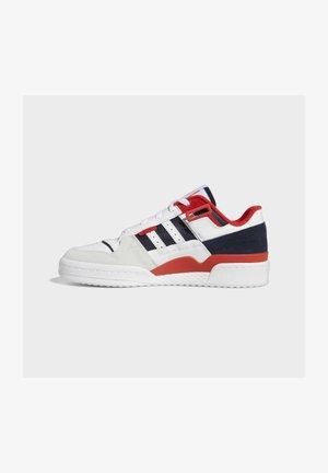 FORUM EXHIBIT LOW UNISEX - Sneakers basse - white/red/legend ink