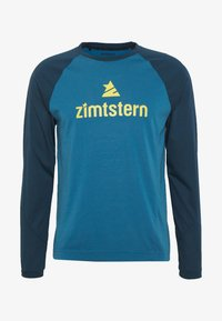 Zimtstern - PURE FLOWZ MEN - Tekninen urheilupaita - blue steel/french navy/mimosa - 3