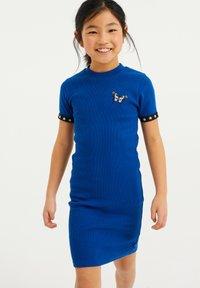 WE Fashion - Gebreide jurk - cobalt blue - 1