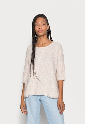 LIGHT - Sweter - light beige melange