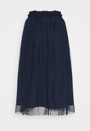 YASSOPHIA MIDI SKIRT - Pleated skirt - dark blue