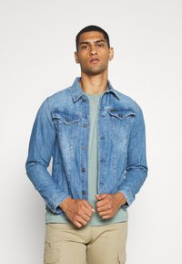 G-Star - 3302 SLIM JKT - Spijkerjas - faded orion blue - 0