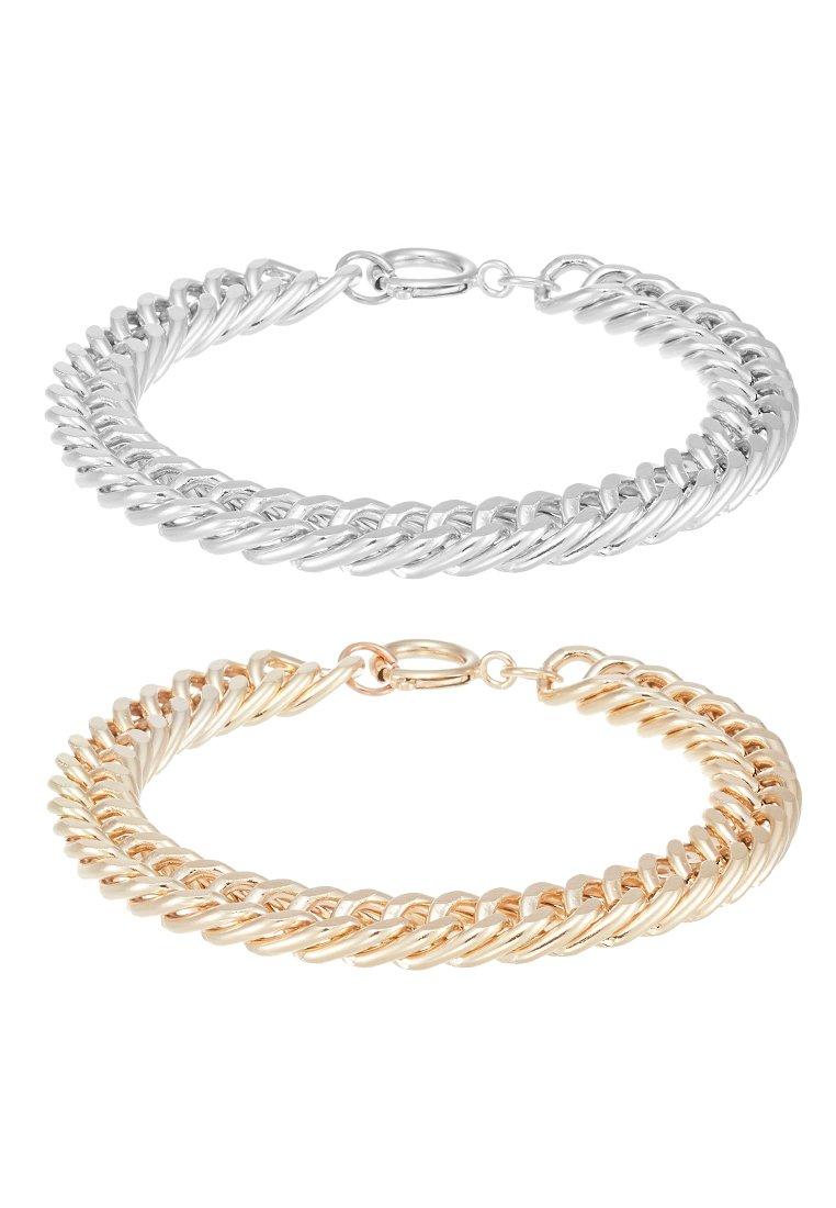 Burton Menswear London COIN BRACELET 2 PACK - Armbånd - silver-coloured/gold-coloured/flerfarget CfHWLCKzHH4IOwt