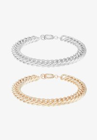 Burton Menswear London - COIN BRACELET 2 PACK - Náramek - silver-coloured/gold-coloured