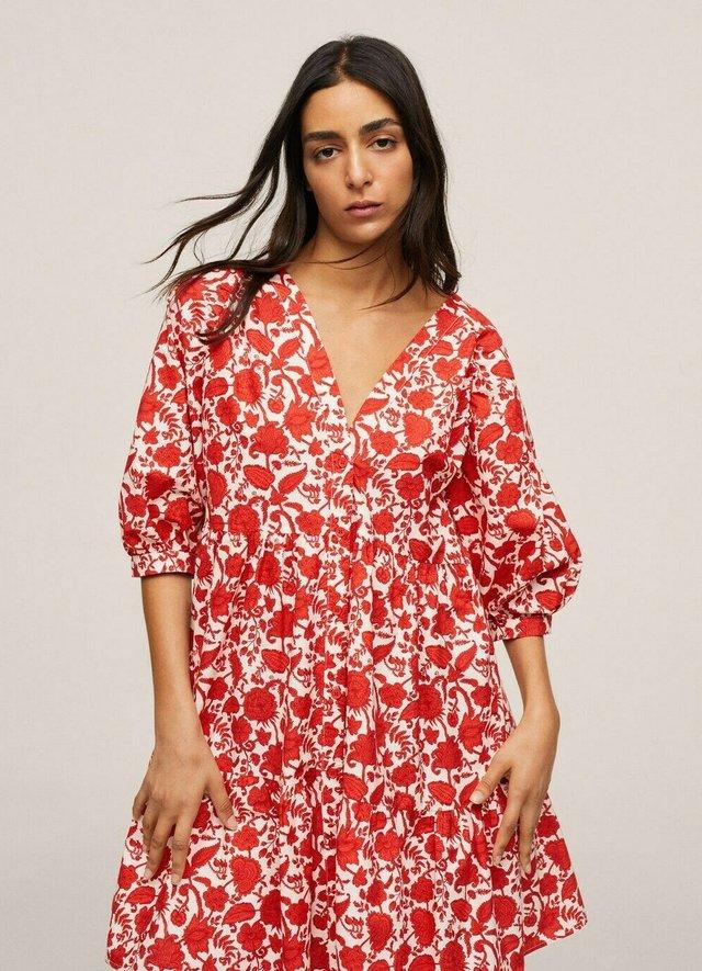 Vestido informal - rød