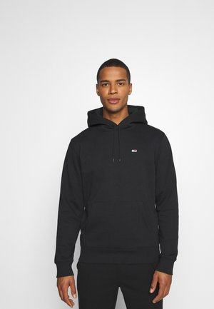 REGULAR FLEECE HOODIE - Mikina s kapucí - black