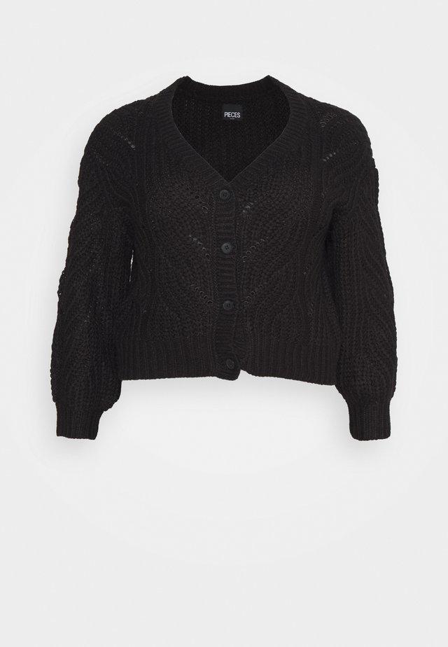 PCRACHEL CARDIGAN - Vest - black