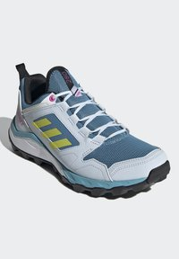 adidas Performance - TERREX AGRAVIC TR - Fjellsko - hazy blue/acid yellow/crystal white - 1