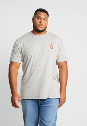 CHRISTMAS APPLICATION TEE  - Print T-shirt - grey melange