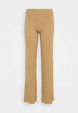 NA-KD X ZALANDO EXCLUSIVE RIBBED PANTS - Trousers - beige