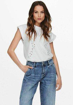 STICKEREI - T-shirt con stampa - off-white