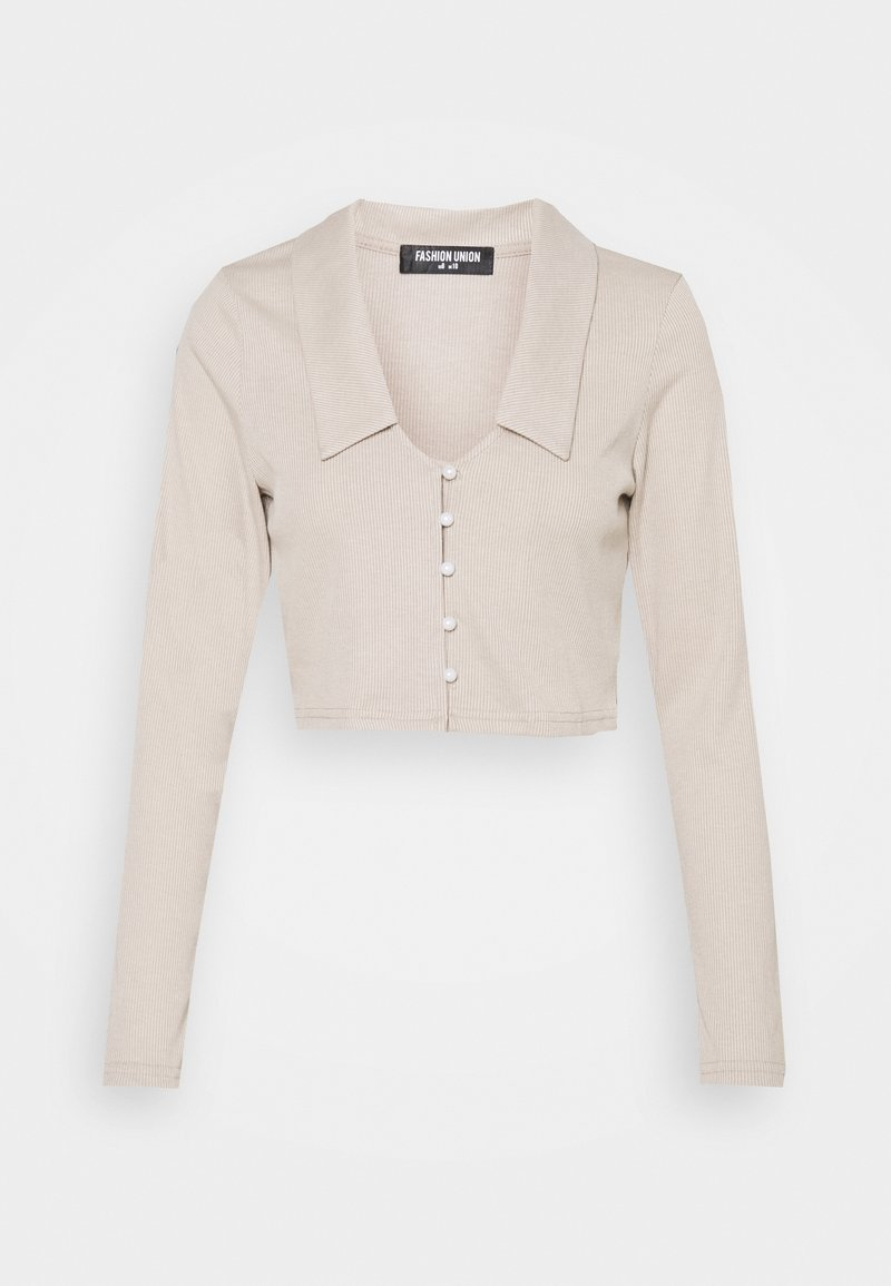 Fashion Union - TURLINGTON  - Cardigan - taupe