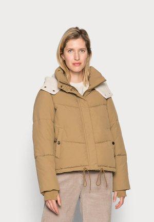 SHORT COAT - Winter jacket - dry khaki