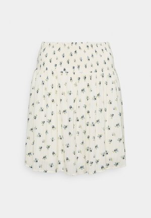 PCTHEA SMOCK SKIRT - Mini skirt - cloud dancer