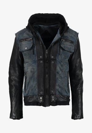 BEMAX D - Kurtka jeansowa - black/indigo